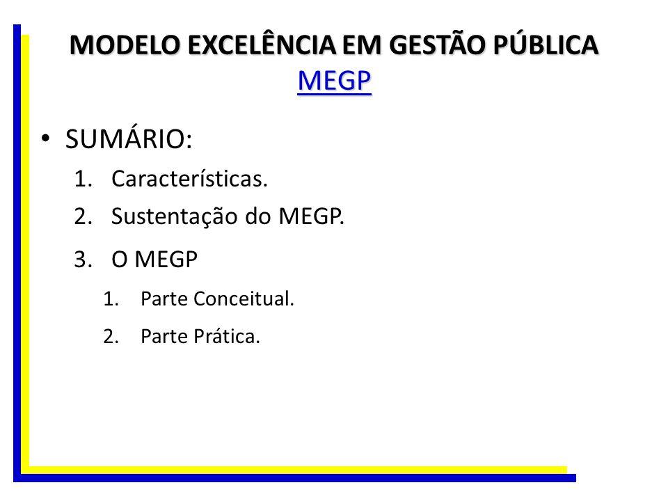 MODELO EXCELÊNCIA EM GESTÃO PÚBLICA MEGP