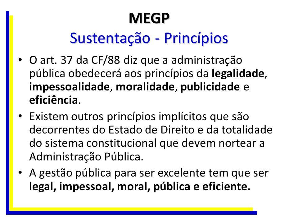 MEGP Sustentação - Princípios