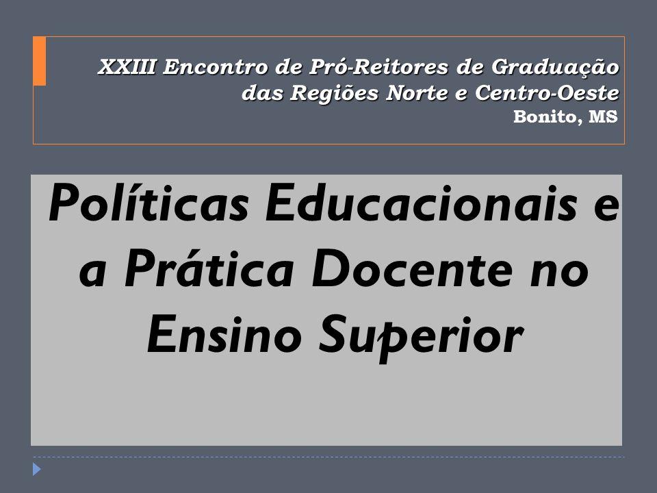 Políticas Educacionais e a Prática Docente no Ensino Superior