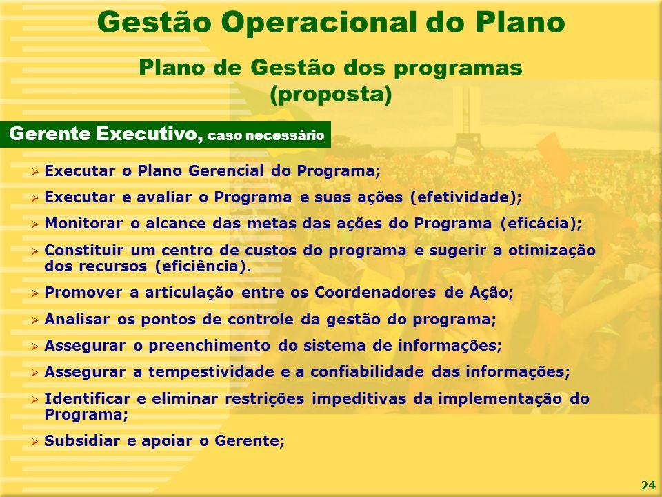 Gestão Operacional do Plano