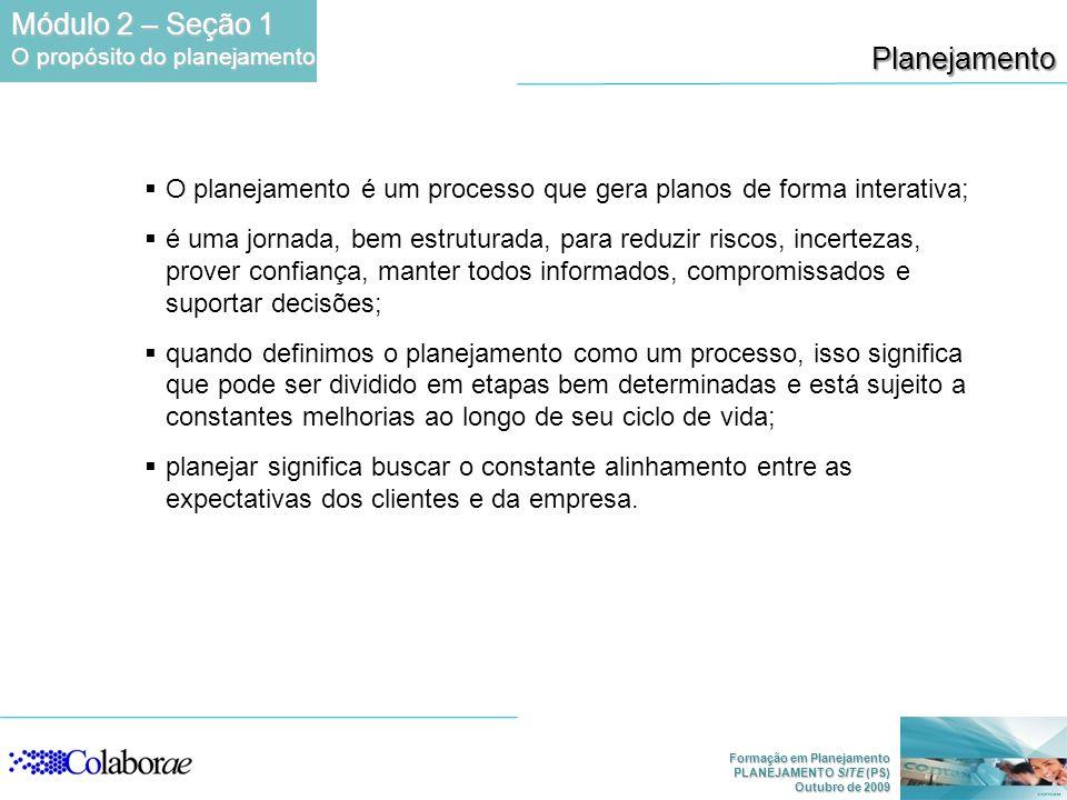 Módulo 2 – Seção 1 Planejamento