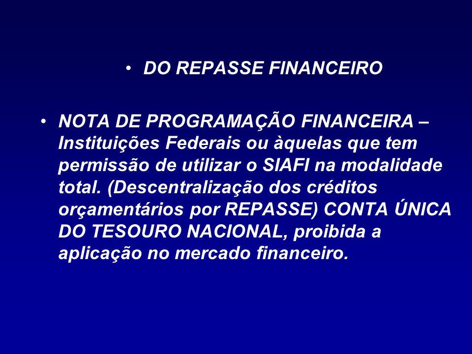 DO REPASSE FINANCEIRO