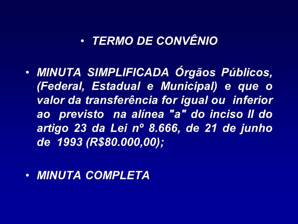 TERMO DE CONVÊNIO