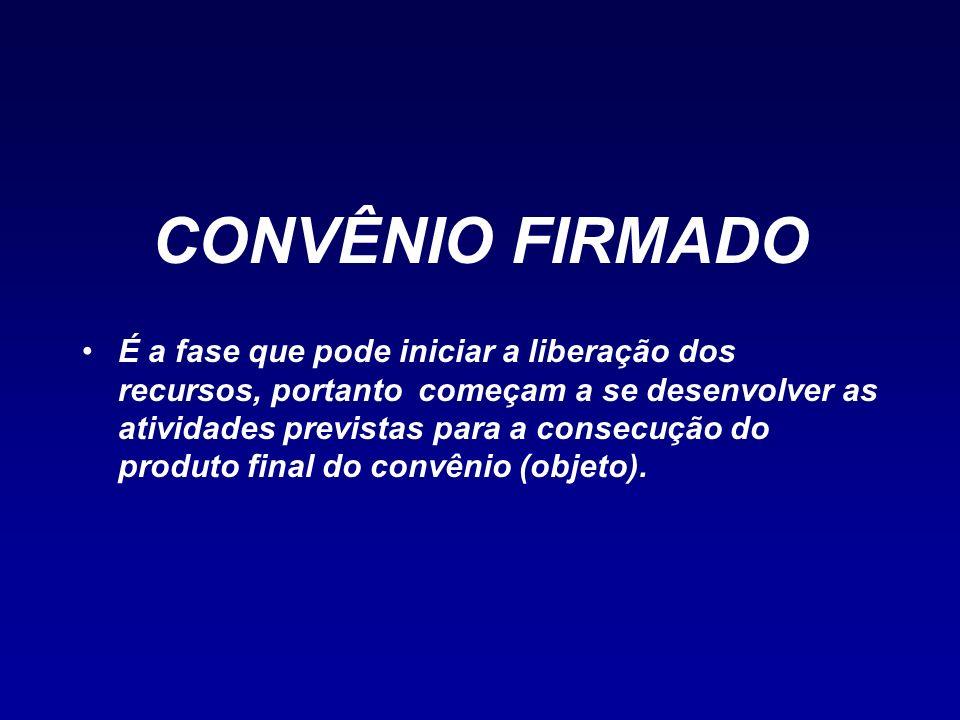 CONVÊNIO FIRMADO