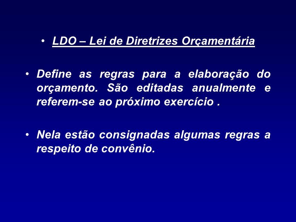 LDO – Lei de Diretrizes Orçamentária
