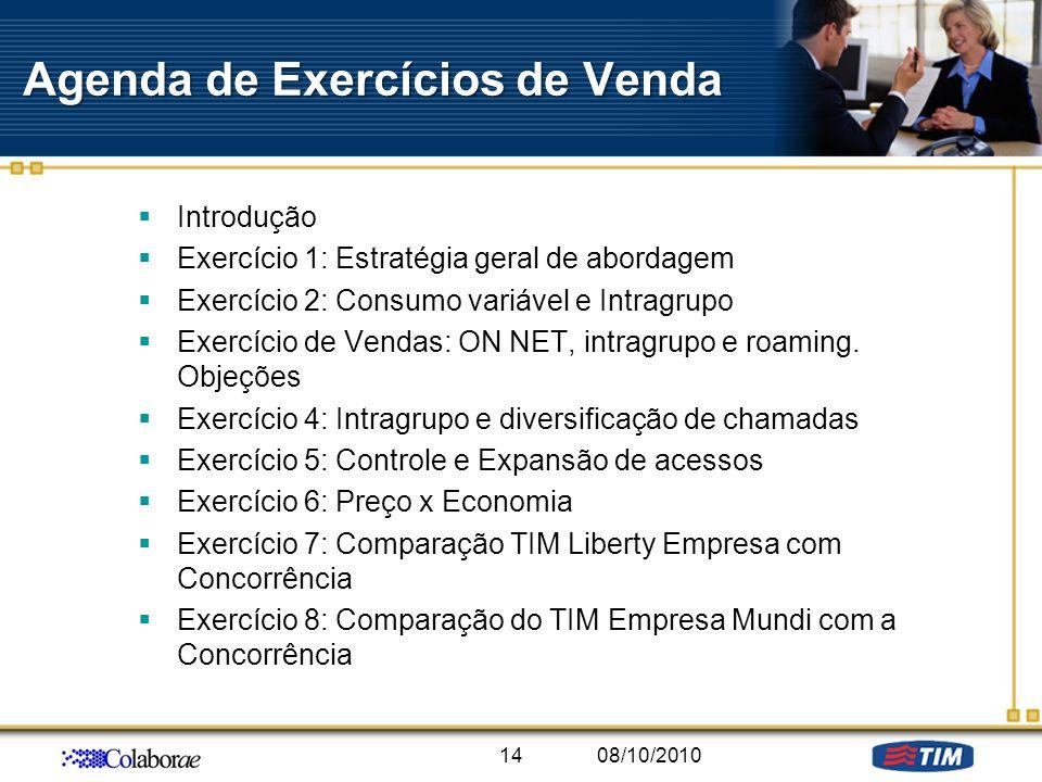 Agenda de Exercícios de Venda