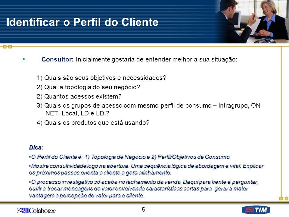Identificar o Perfil do Cliente