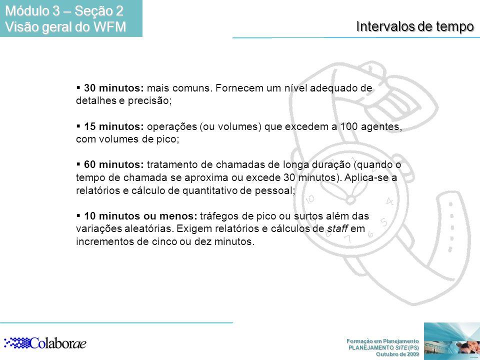 Módulo 3 – Seção 2 Visão geral do WFM Intervalos de tempo