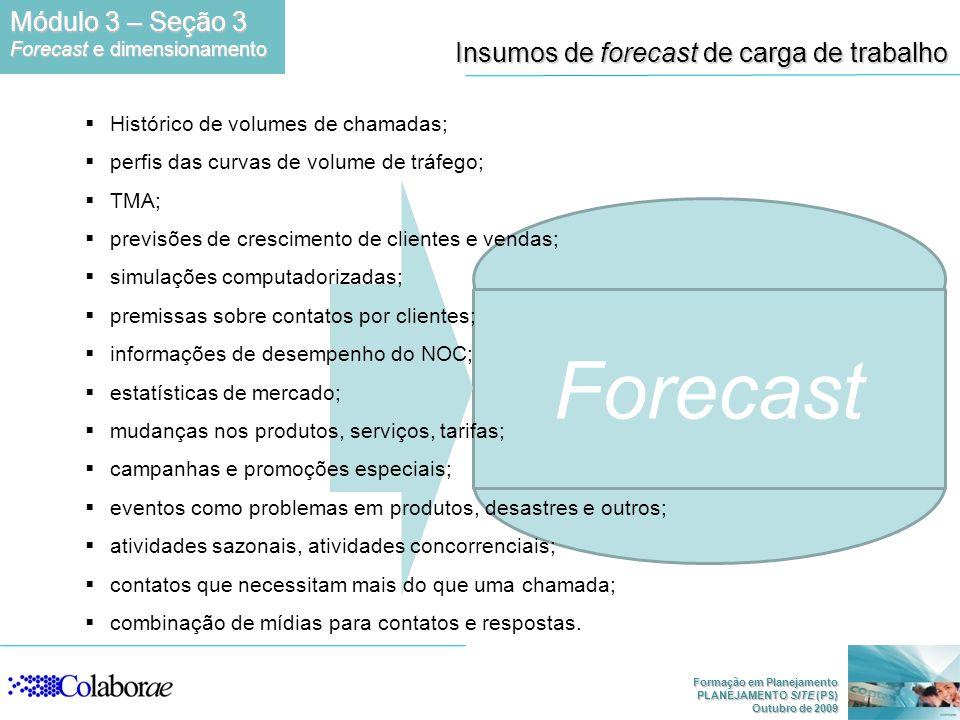 Forecast Módulo 3 – Seção 3 Insumos de forecast de carga de trabalho