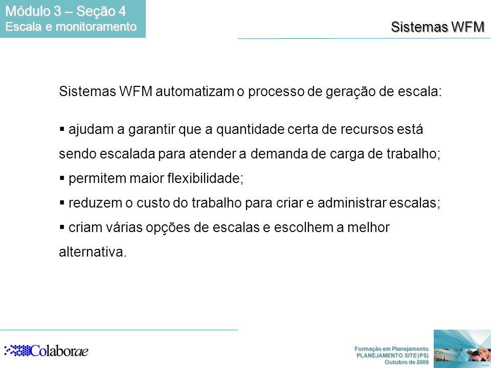 Sistemas WFM automatizam o processo de geração de escala: