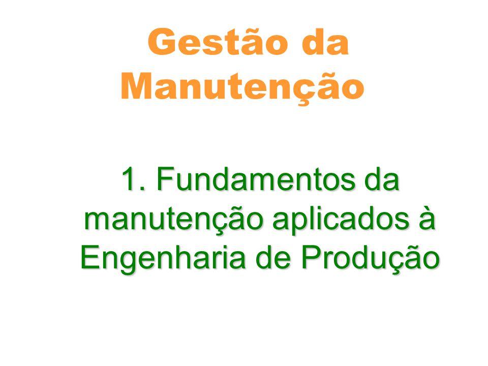1. Fundamentos da manutenção aplicados à Engenharia de Produção