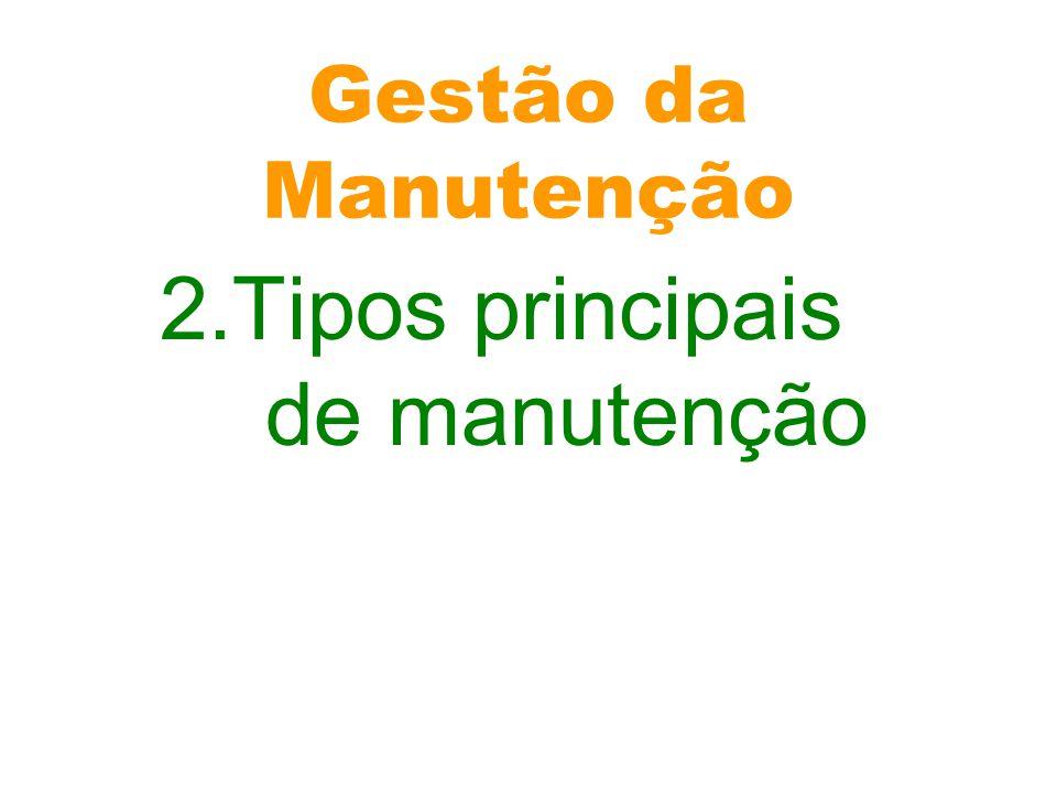 2.Tipos principais de manutenção
