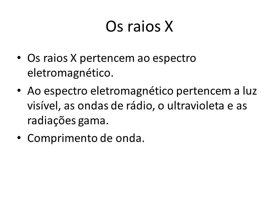 Os raios X Os raios X pertencem ao espectro eletromagnético.