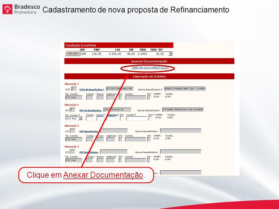 Clique em Anexar Documentação.
