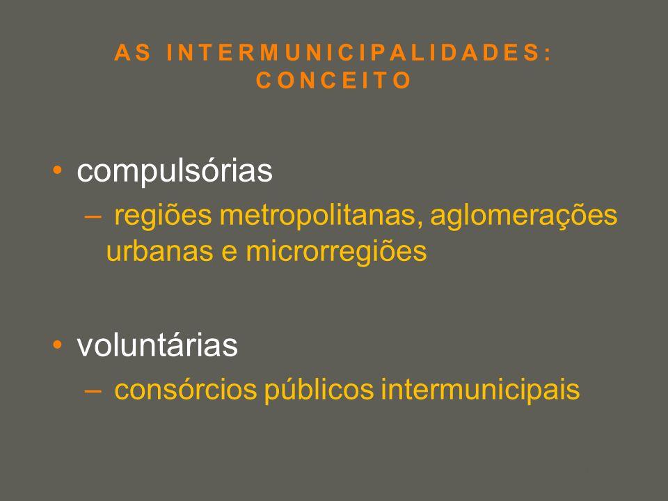 AS INTERMUNICIPALIDADES: CONCEITO