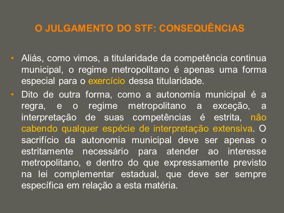 O JULGAMENTO DO STF: CONSEQUÊNCIAS