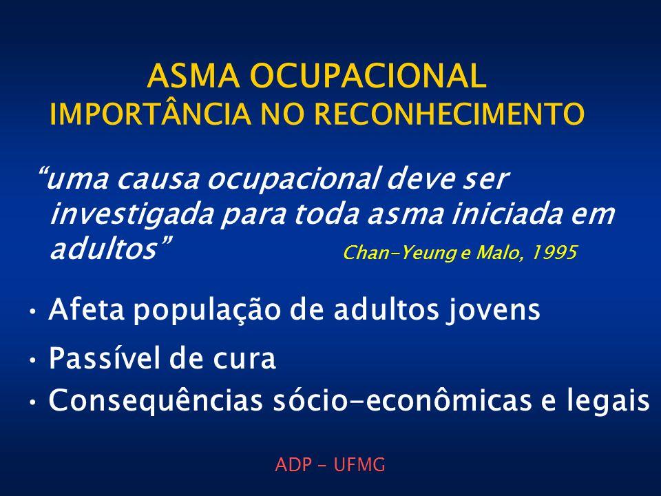 ASMA OCUPACIONAL IMPORTÂNCIA NO RECONHECIMENTO