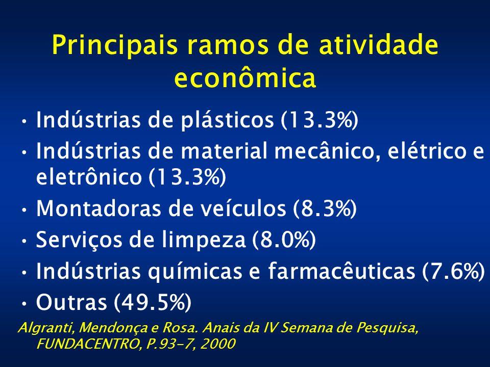 Principais ramos de atividade econômica