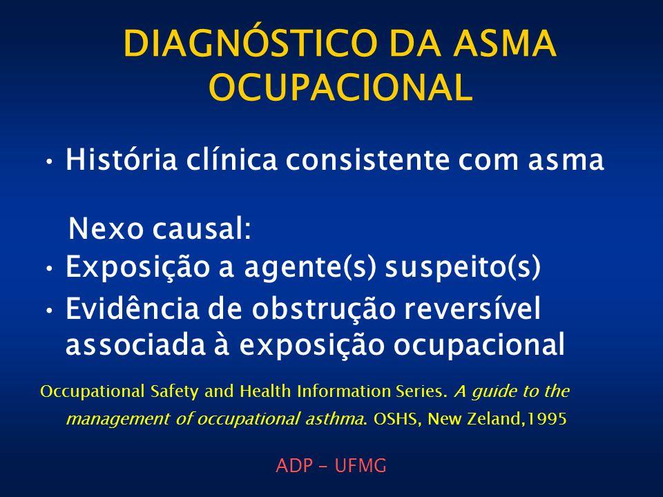 DIAGNÓSTICO DA ASMA OCUPACIONAL