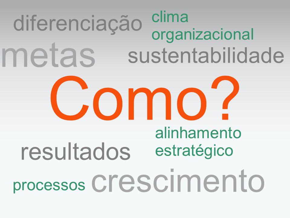 Como metas crescimento resultados diferenciação sustentabilidade