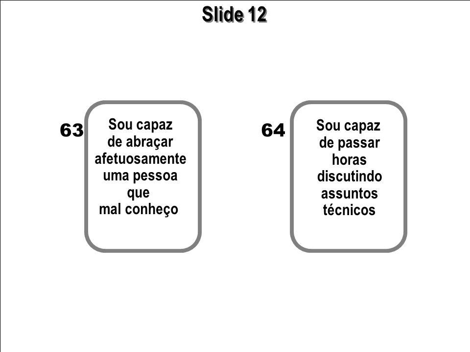 Slide 12 63 64 Sou capaz Sou capaz de abraçar de passar afetuosamente