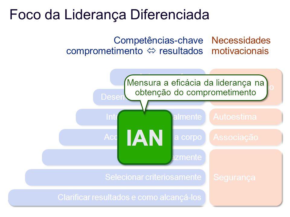 Mensura a eficácia da liderança na obtenção do comprometimento