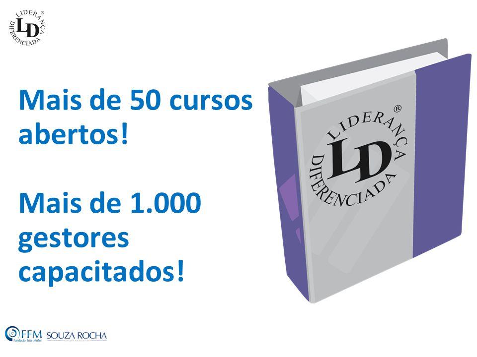 Mais de 50 cursos abertos! Mais de 1.000 gestores capacitados!