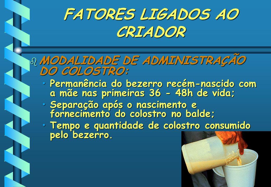 FATORES LIGADOS AO CRIADOR