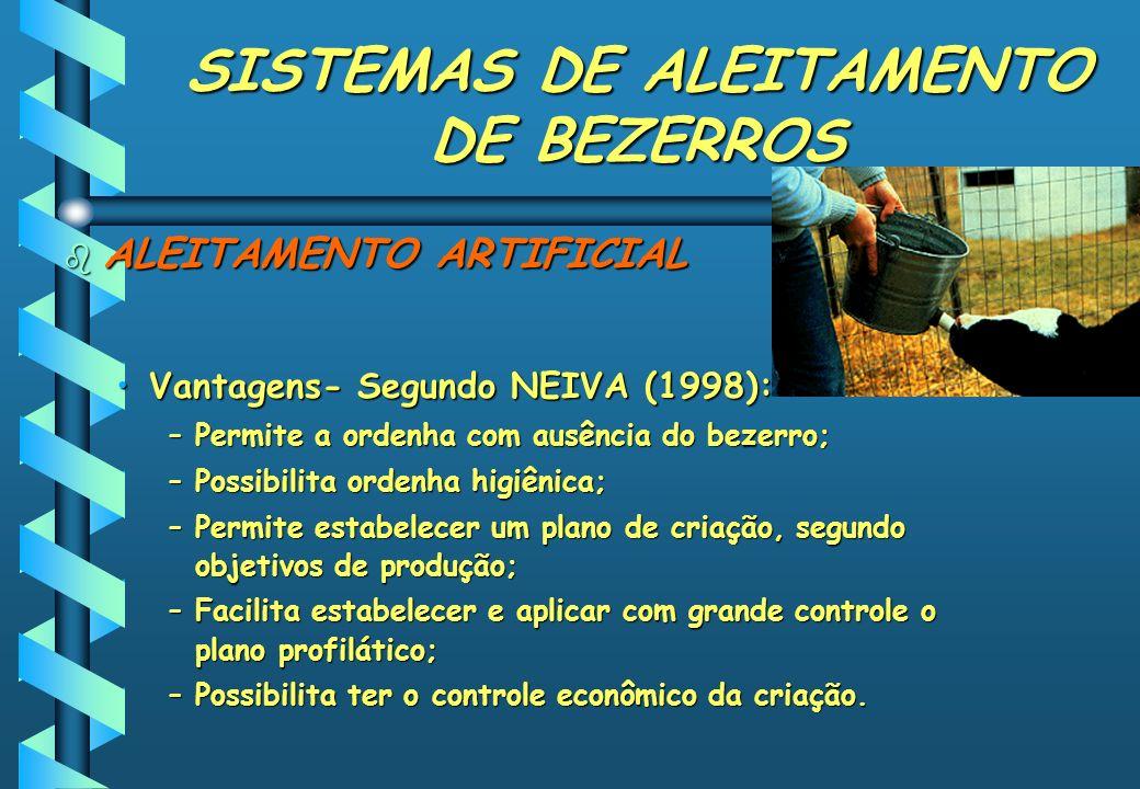 SISTEMAS DE ALEITAMENTO DE BEZERROS