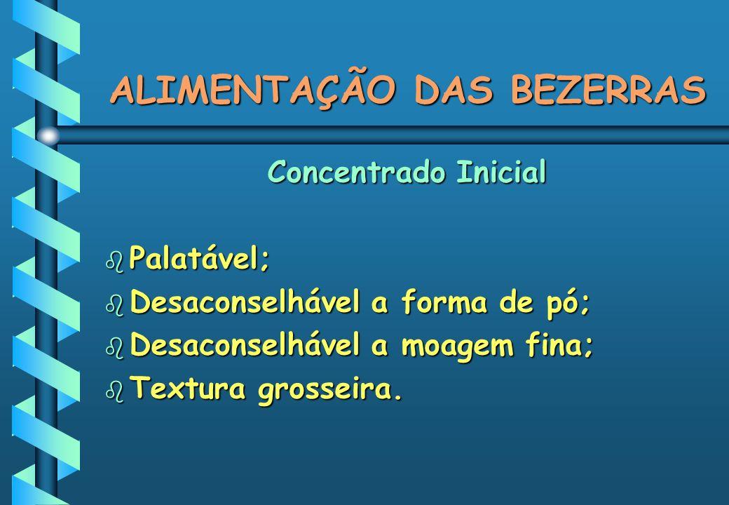 ALIMENTAÇÃO DAS BEZERRAS