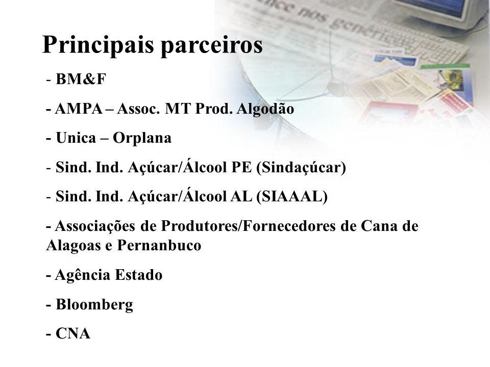 Principais parceiros - BM&F - AMPA – Assoc. MT Prod. Algodão