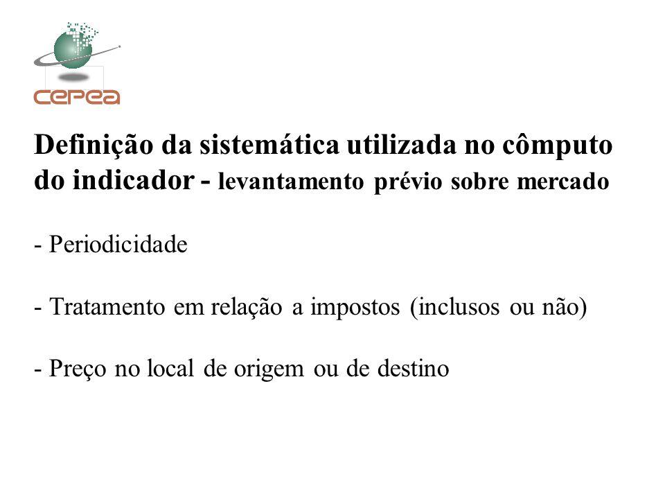 Definição da sistemática utilizada no cômputo