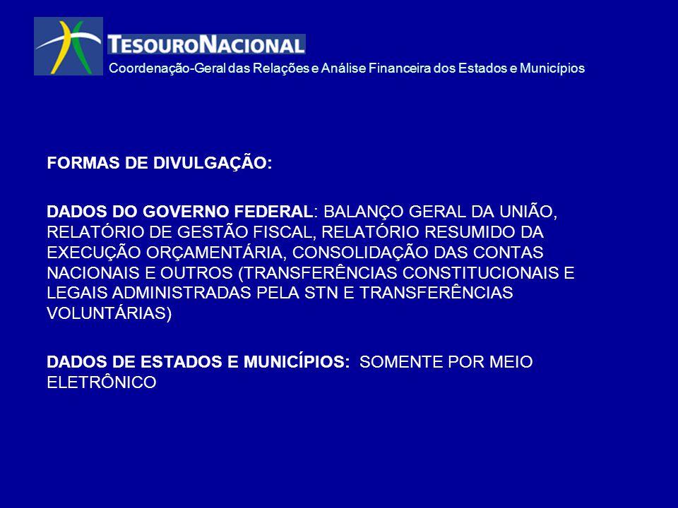 FORMAS DE DIVULGAÇÃO: