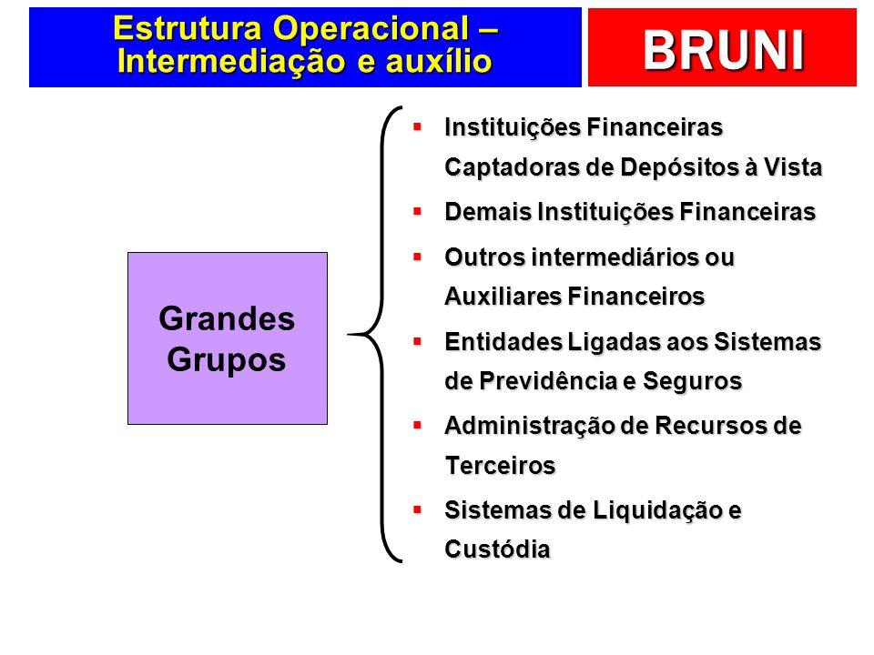 Estrutura Operacional – Intermediação e auxílio