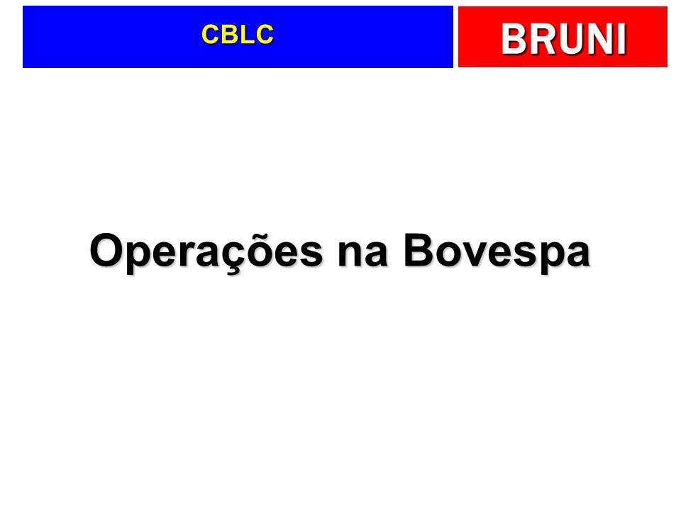 CBLC Operações na Bovespa
