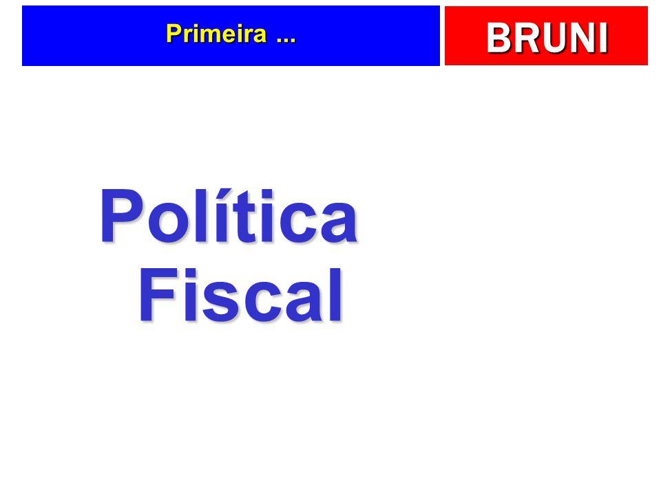 Primeira ... Política Fiscal