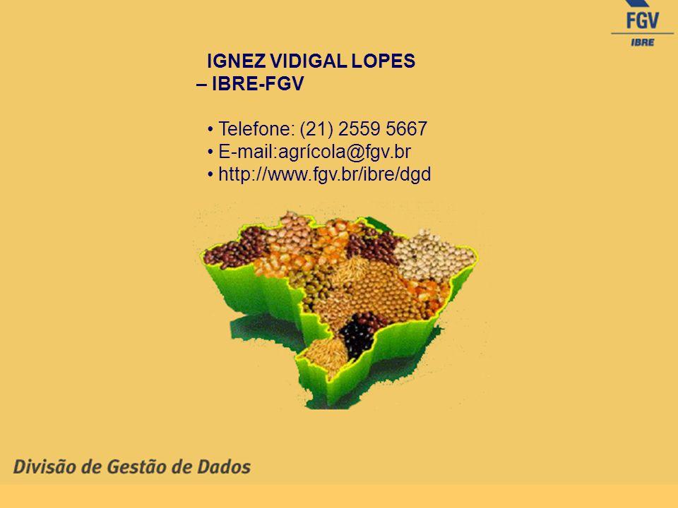IGNEZ VIDIGAL LOPES – IBRE-FGV. • Telefone: (21) 2559 5667.