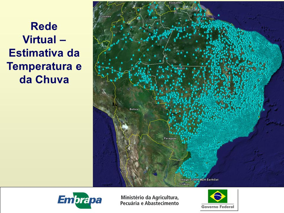 Rede Virtual – Estimativa da Temperatura e da Chuva
