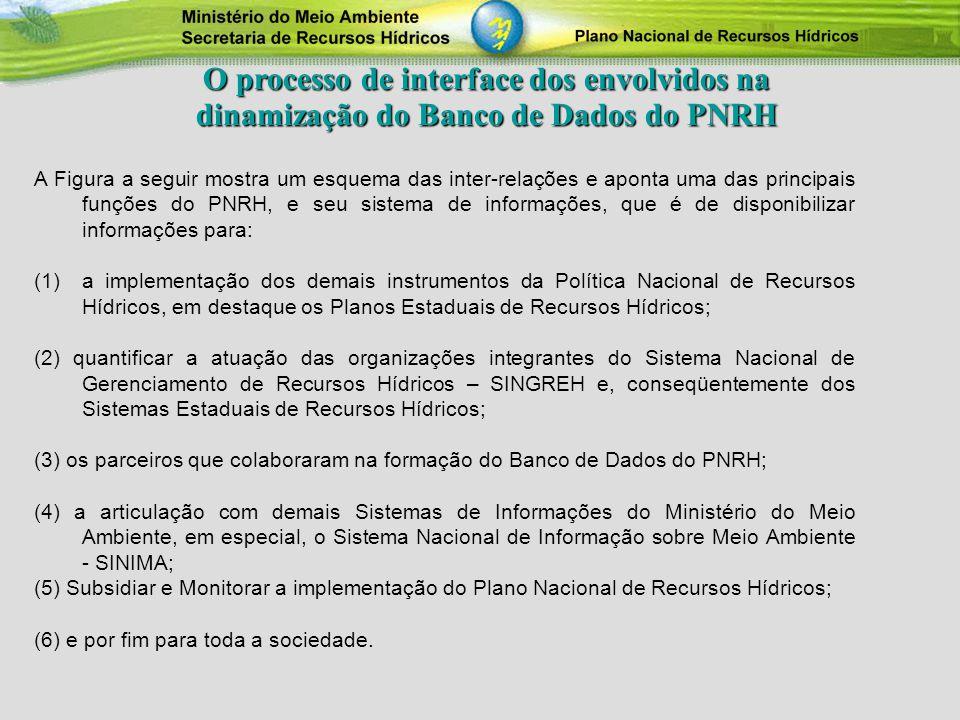 O processo de interface dos envolvidos na dinamização do Banco de Dados do PNRH