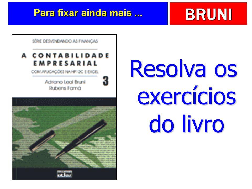 Resolva os exercícios do livro