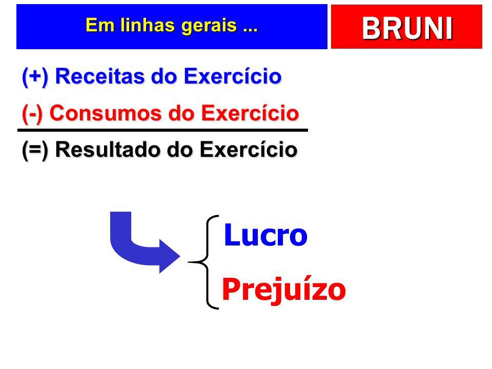 Lucro Prejuízo (+) Receitas do Exercício (-) Consumos do Exercício