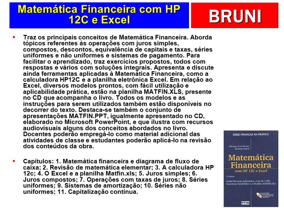Matemática Financeira com HP 12C e Excel