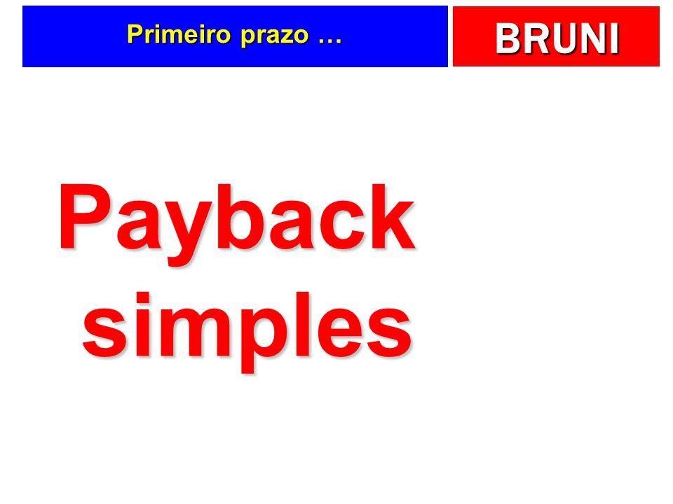 Primeiro prazo … Payback simples