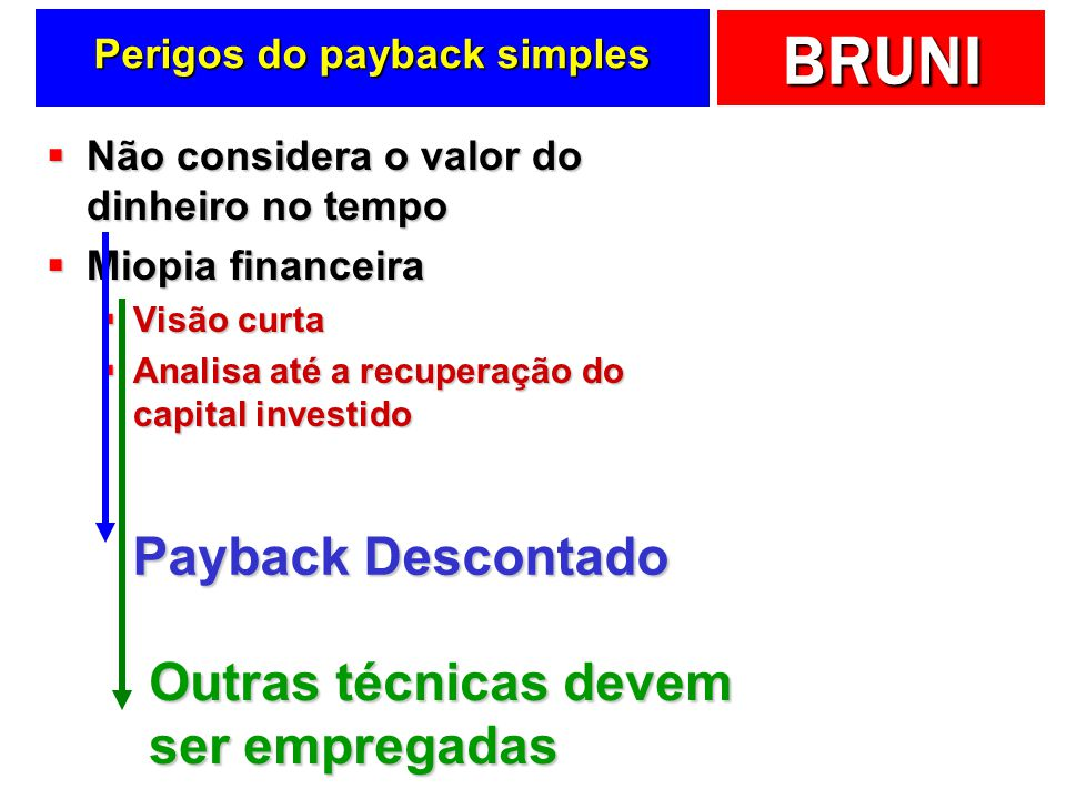 Perigos do payback simples