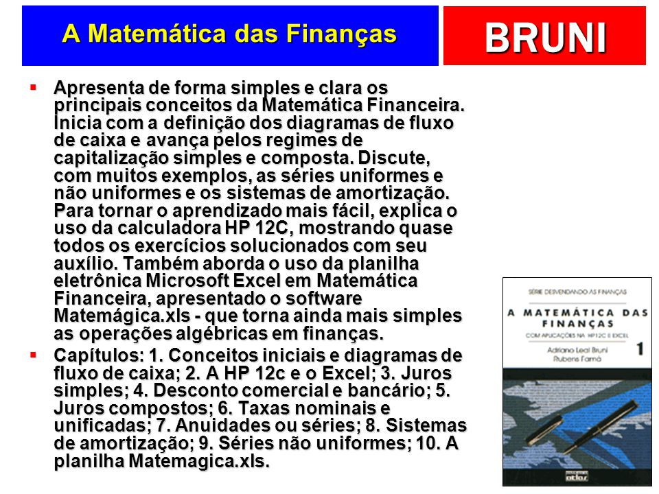 A Matemática das Finanças
