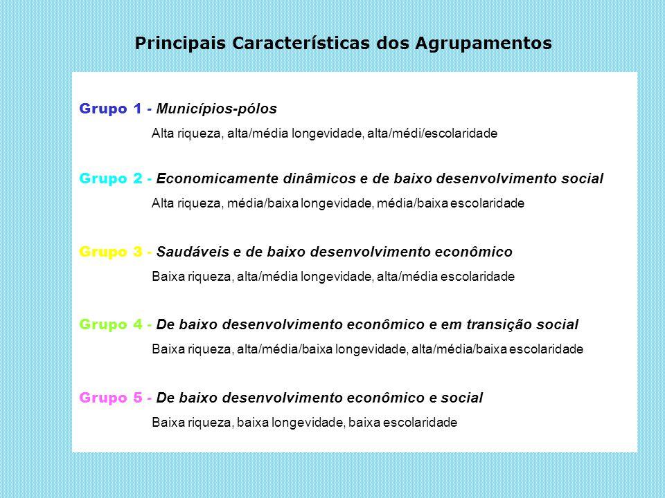 Principais Características dos Agrupamentos