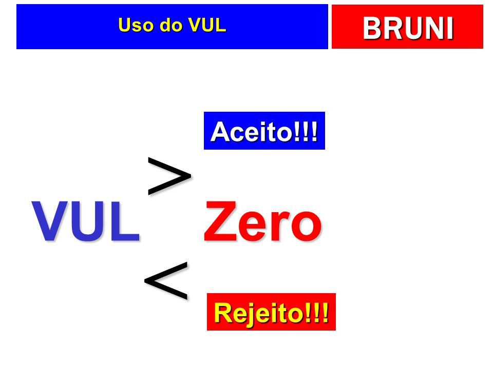 Uso do VUL Aceito!!! > VUL Zero < Rejeito!!!