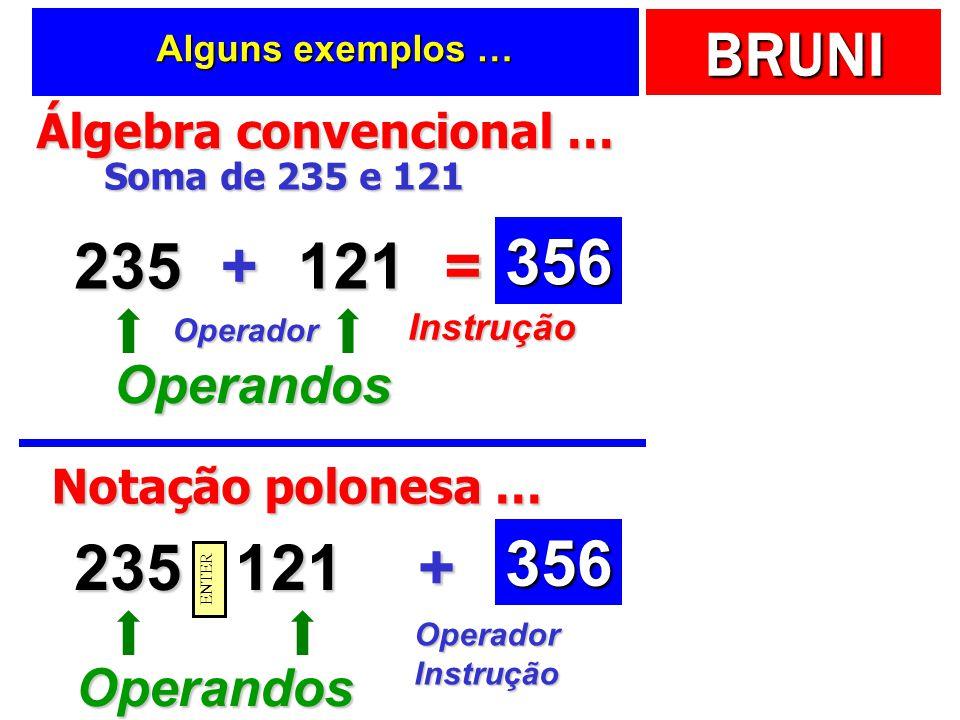 Álgebra convencional …