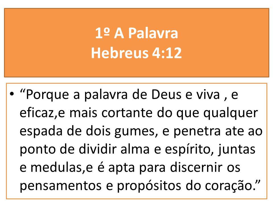 1º A Palavra Hebreus 4:12