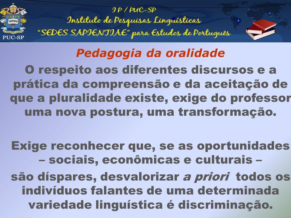Pedagogia da oralidade